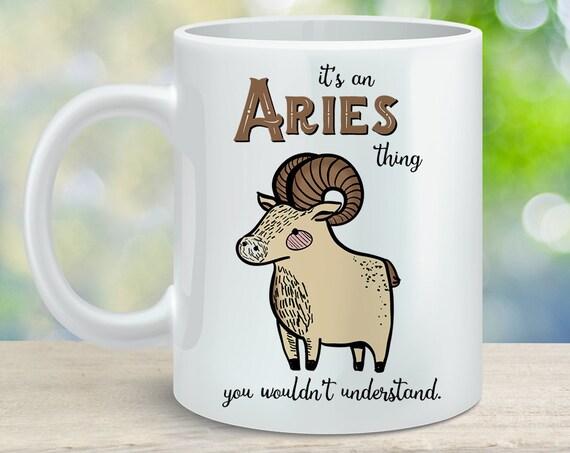 Coffee Mug Aries Astrological Sign Coffee Cup - Great Birthday Gift - Horoscope Mug