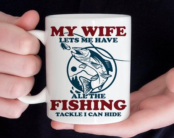 Coffee Mug Funny Fishing Coffee Cup  - Fishing Mug - Great Gift for Fisherman