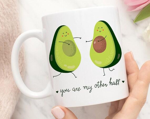 Avocado Coffee Mug, Avocado You are My Other Half Funny Coffee Cup