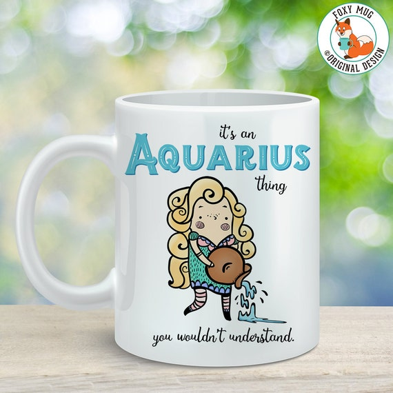 Coffee Mug Aquarius Astrological Sign Coffee Cup - Great Birthday Gift - Horoscope Mug