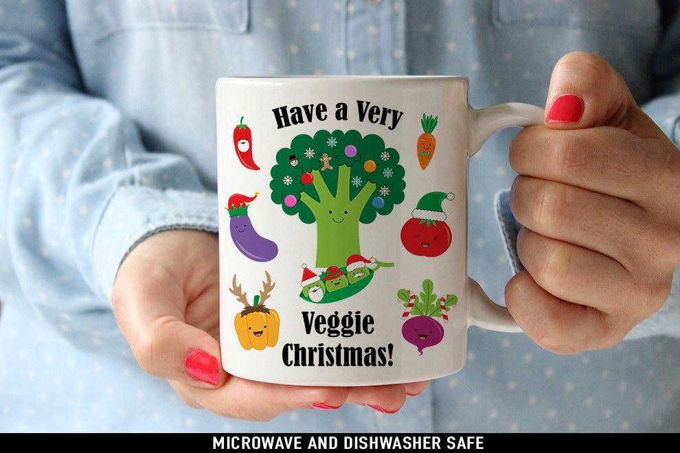 A Very Veggie Christmas.Coffee Mug Have A Very Veggie Christmas Coffee Or Tea Mug