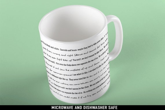 Coffee Mug You and I Lyrics Mug - One Direction