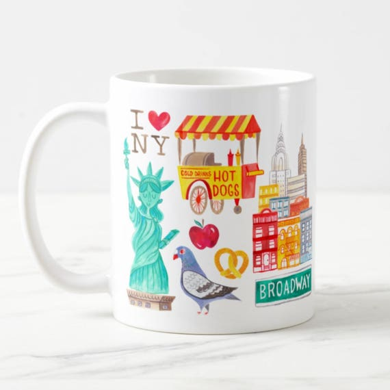 Coffee Mug New York City Coffee Cup - NYC - New York Fashion - New York Mug