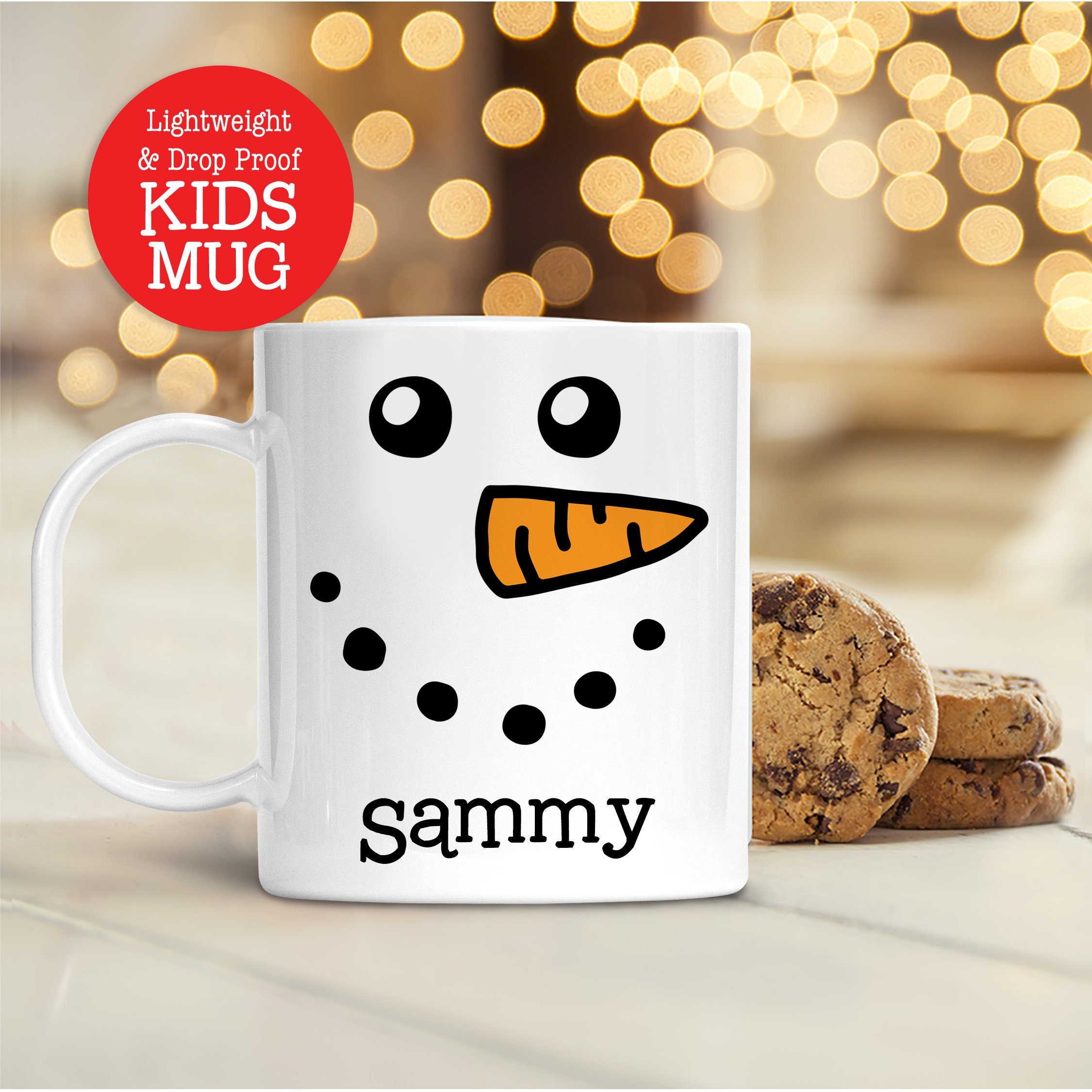 Kids Personalized Snowman Christmas Mug | Dishwasher Safe ...