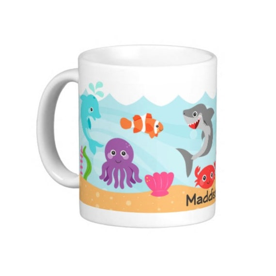Under The Sea Mug For Kids - Personalize with Name