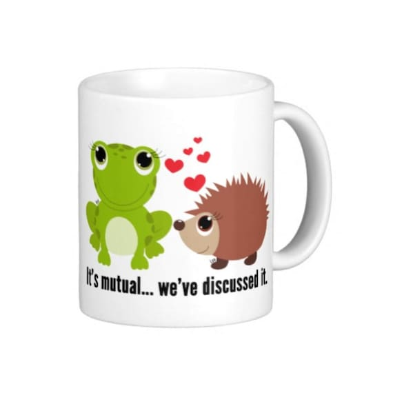 Coffee Mug Frog and Hedgehog Larry Stylinson Mug - It's mutual... we've discussed it