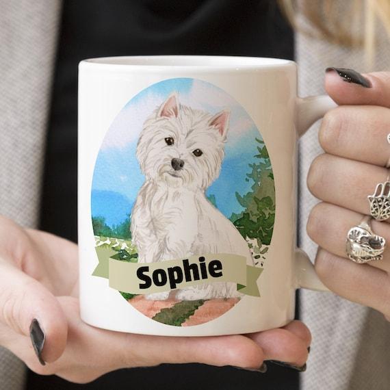Westie Custom Dog Mug - Get your dogs name on a mug - Dog Breed Mug - Great gift for dog owner - Westie mug