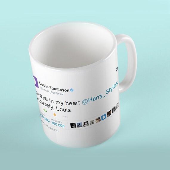 Coffee Mug Always In My Heart Tweet 1 Million Retweets Edition - Louis Tomlinson & Harry Styles