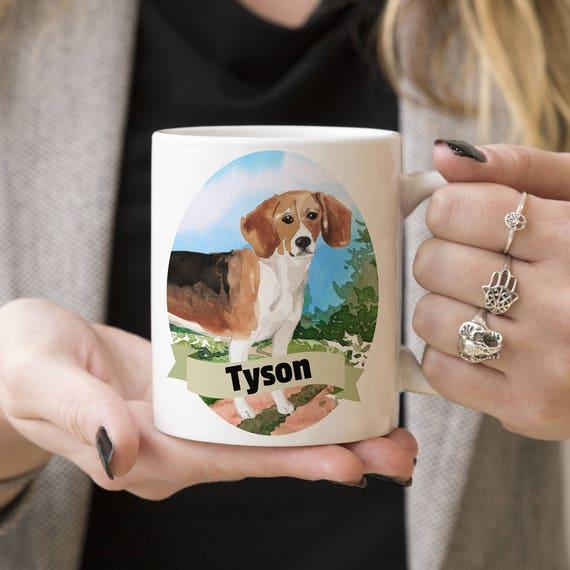 Beagle Custom Dog Mug - Get your dogs name on a mug - Dog Breed Mug - Great gift for dog owner - Beagle mug
