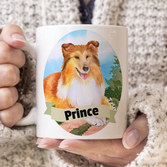 Sheltie Custom Dog Mug - Get your dogs name on a mug - Dog Breed Mug - Great gift for dog owner - Sheltie mug