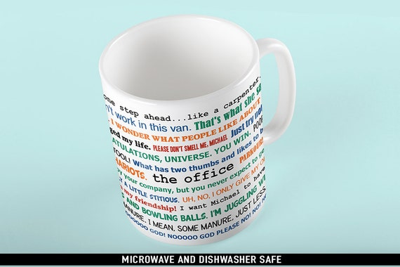 Coffee Mug The Office TV Show Funny Quotes Mug