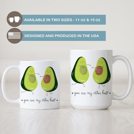 Avocado Coffee Mug Avocado You Are My Other Half Funny Coffee Etsy