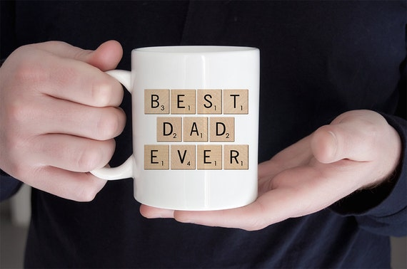Coffee Mug Best Dad Ever Scrabble Mug