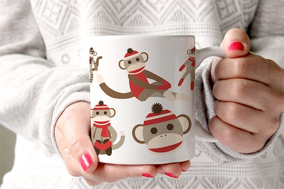 Coffee Mug Sock Monkey Coffee Cup
