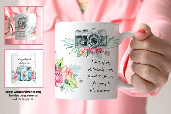 Coffee Mug Photography Quotes and Cameras Coffee Mug - Great Gift for Photographer
