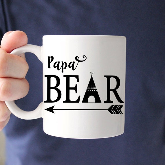 Papa Bear Coffee Mug - Perfect Fathers Day Gift - Great Gift for Dad - Dad Grandpa Coffee Mug