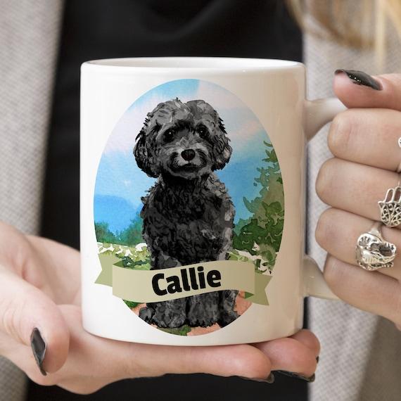 Black Cockapoo Custom Dog Mug - Get your dogs name on a mug - Dog Breed Mug - Great gift for dog owner - Cockapoo mug