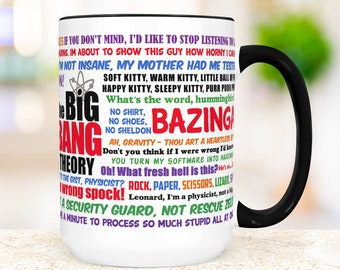 Big Bang Theory Coffee Mug | Funny TV Show Quotes Mug | Microwave and Dishwasher Safe Ceramic Cup Gift for Friend