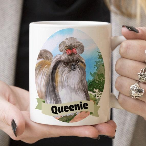 Shih Tzuh Custom Dog Mug - Get your dogs name on a mug - Dog Breed Mug - Great gift for dog owner - Shih Tzuh mug