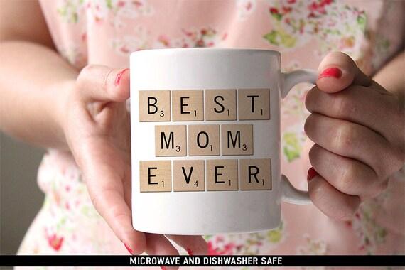Coffee Mug Best Mom Ever Scrabble Mug