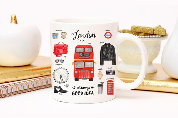 Coffee Mug London Essentials Coffee Cup - London England - London Fashion - London Mug