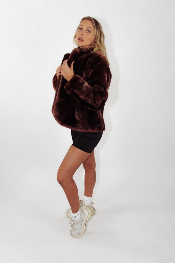 Vintage Faux Fur Coat || Vintage Faux Fur Jacket |