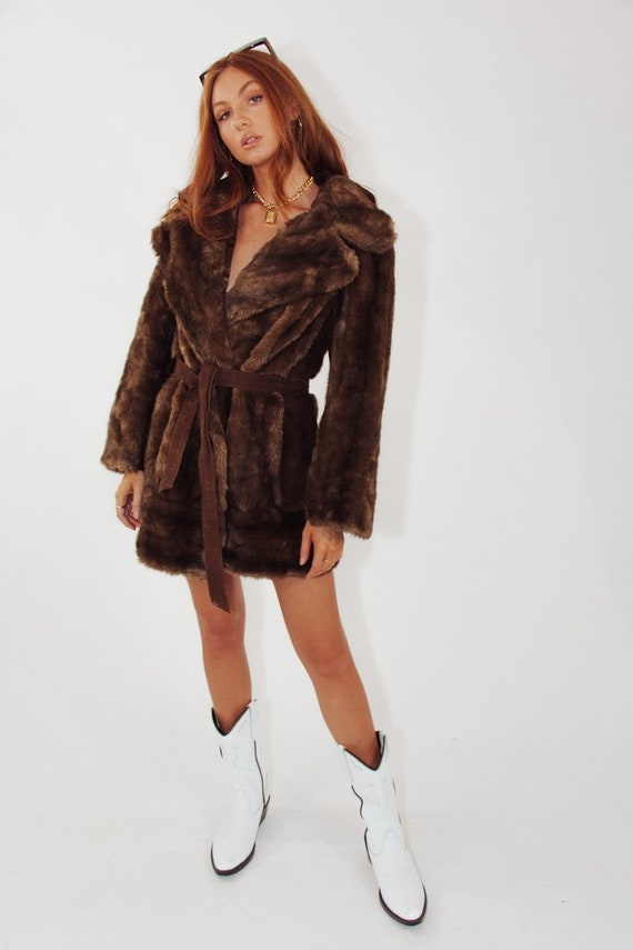 Vintage Faux Fur and Real Suede Coat || Vintage Fa