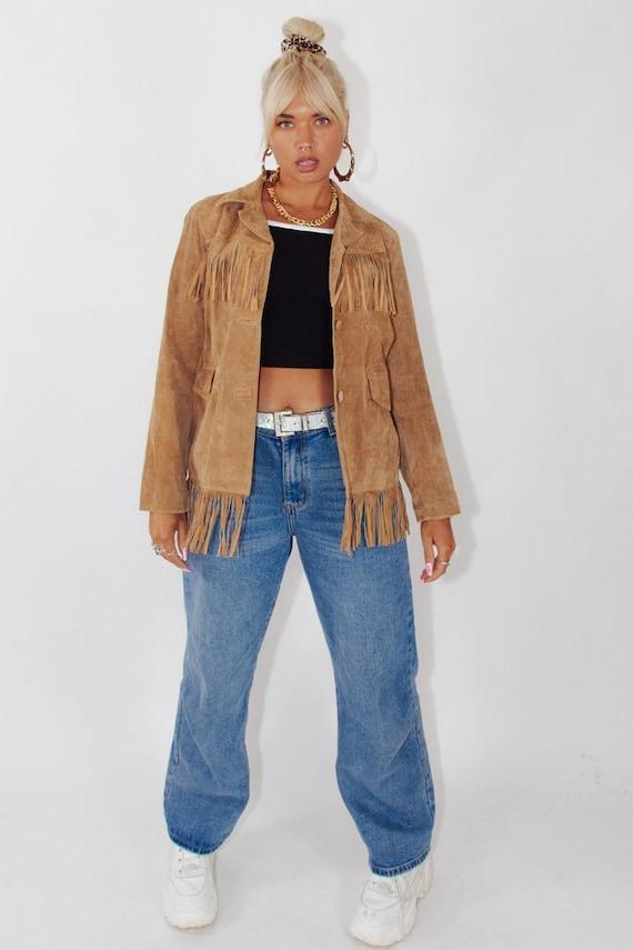 Vintage Fringed Suede Leather Jacket || Fringe Jac