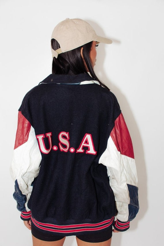 Vintage Varsity Bomber Jacket || Vintage Letterman