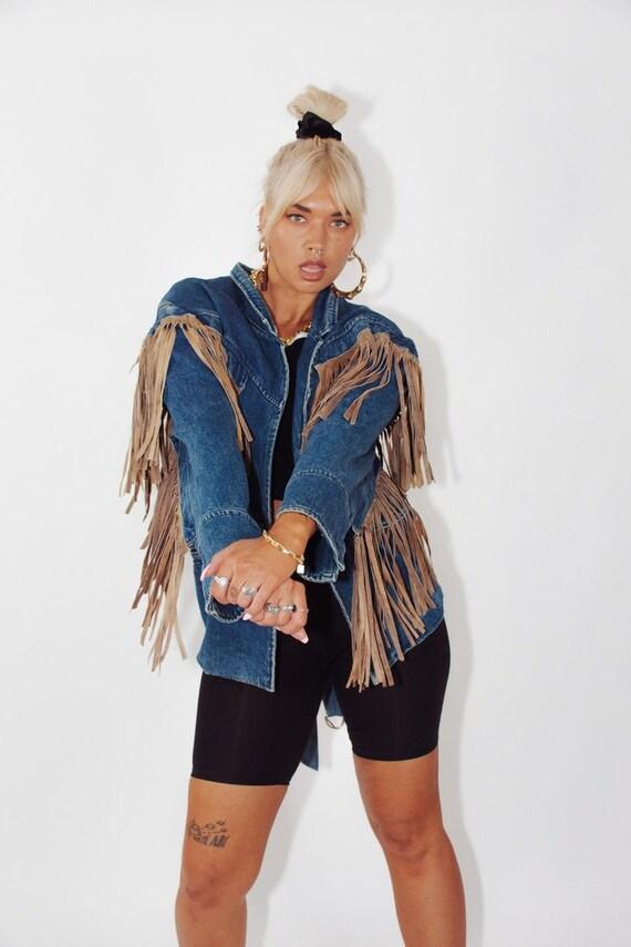 Vintage Acid Wash Denim Jacket || Oversized Denim