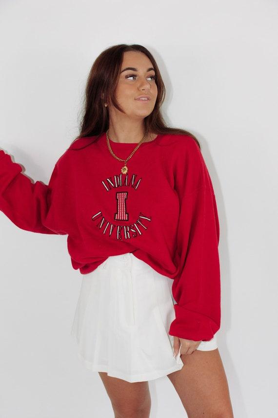 Vintage Sweatshirt || Indiana University || XL