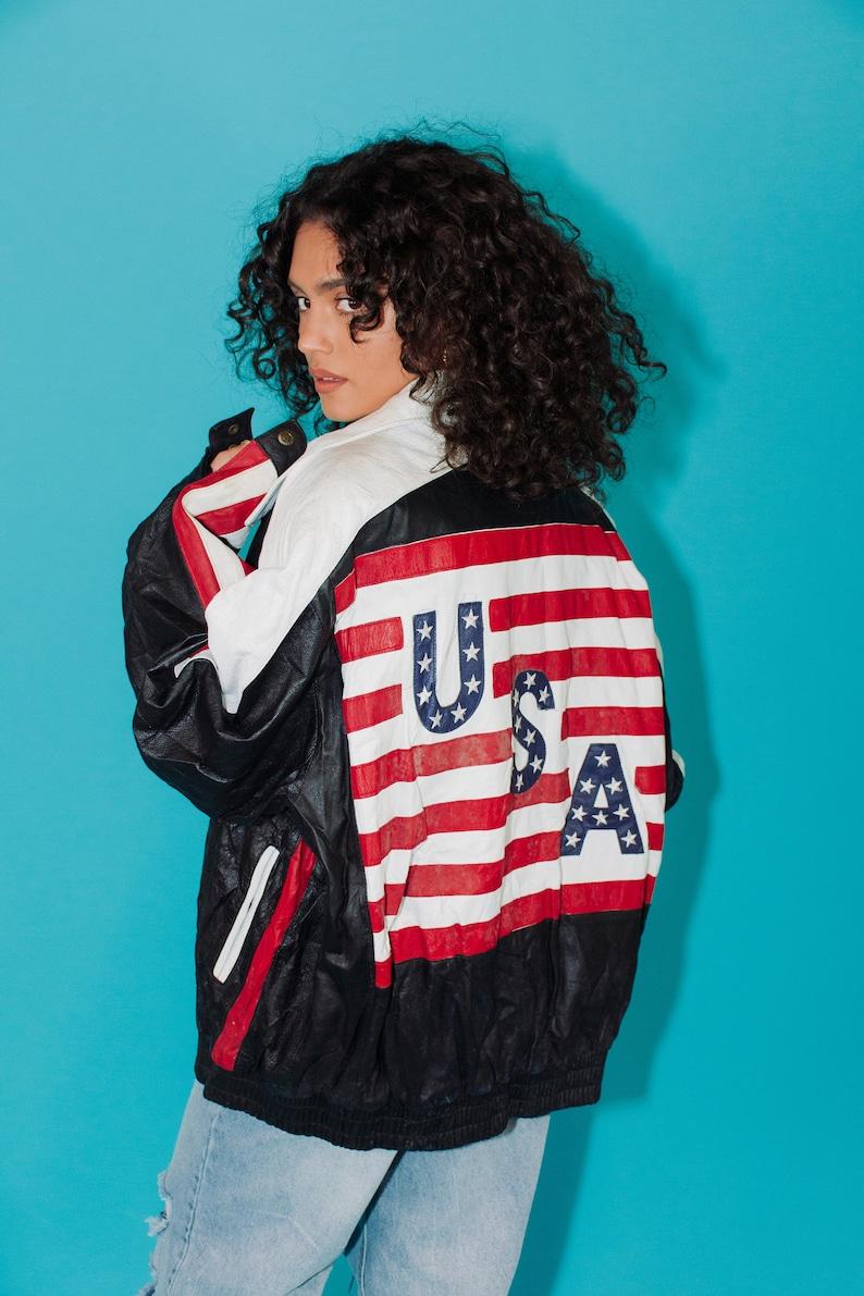 XL RARE Vintage Leather USA Jacket