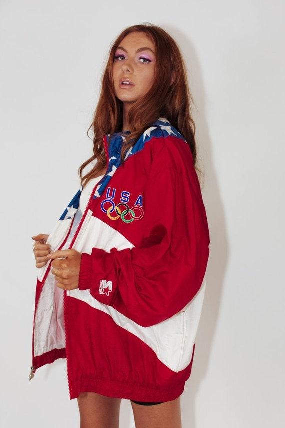 Vintage USA Olympics Spray Jacket || Vintage 90s S