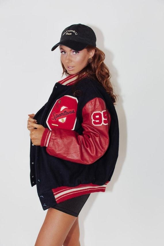 Vintage Leather Varsity Jacket || Vintage Letterma