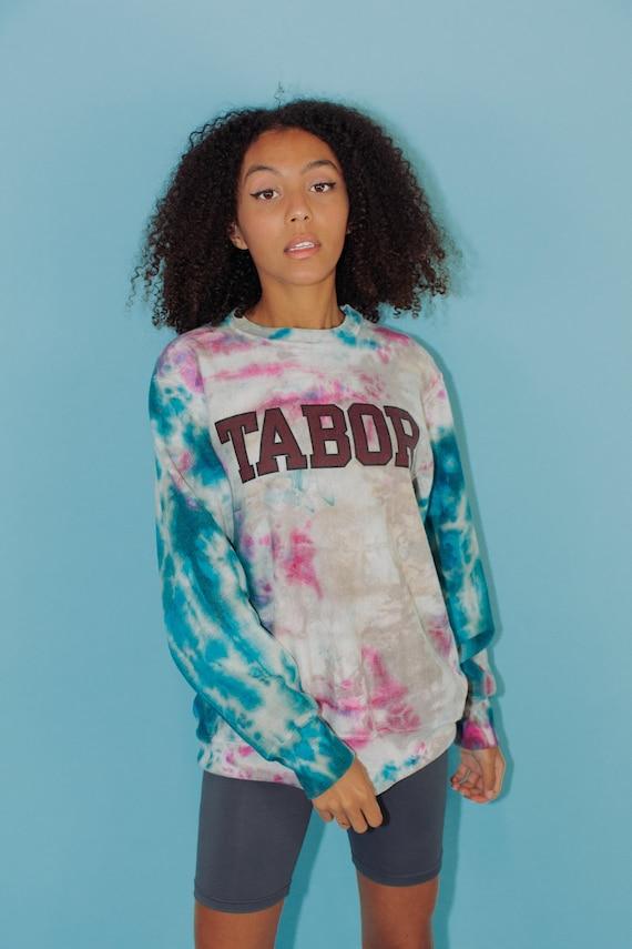 Vintage Sweatshirt || Champion Tie Dye Tabor