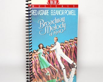 Broadway Melody of 1940 Handmade VHS Box Blank Spiral Notebook