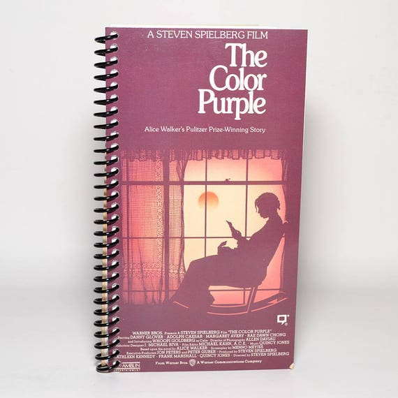 The Color Purple Original Vhs Box Upcycled Spiral Notebook Etsy