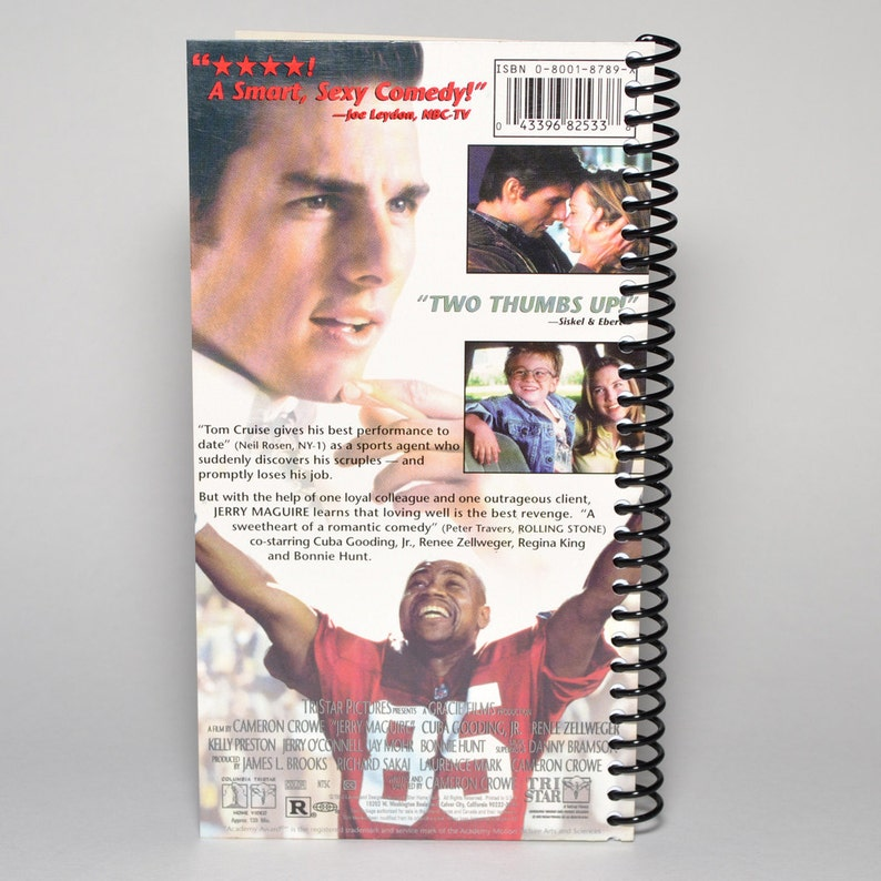 Tom Cruise Jerry Maguire VHS Movie Box Spiral Notebook Journal