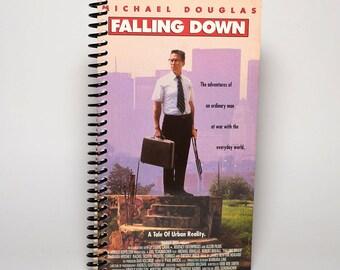 Falling Down Original VHS Box Upcycled Spiral Notebook