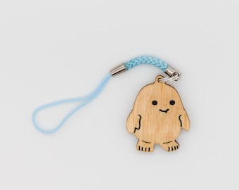 Doctor Who Adipose Charm - Dr. Who Carved Wood Charm - Adipose Wooden Engraved Charm