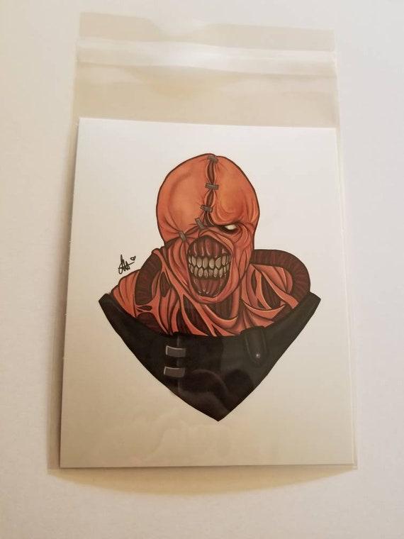 Resident Evil Nemesis 5x6 Print Etsy