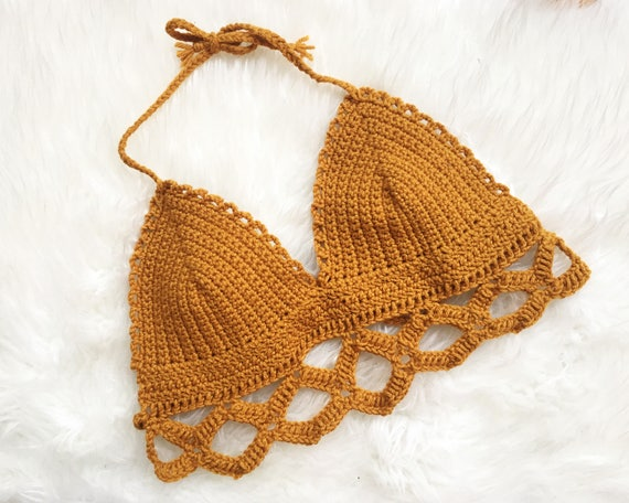 The Colette Bralette Pattern, Crochet Bralette Pattern, Crochet Crop ...