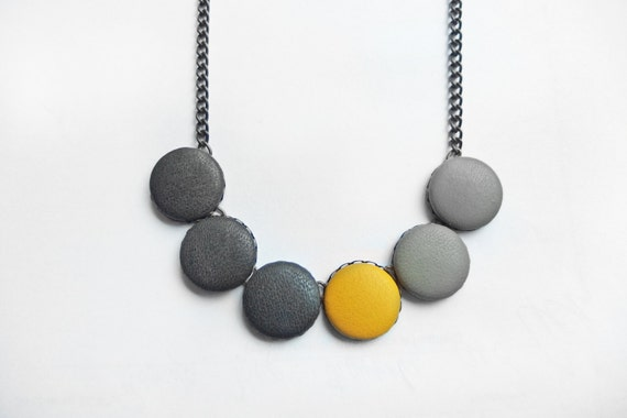 Cork Statement Necklace,Black Jewelry Accent Artistic Necklace Marble Cork Necklace Minimalist Jewelry Cork leather Necklace