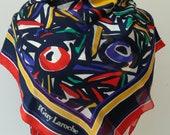 Guy Laroche Paris vintage, multicolored silk scarf