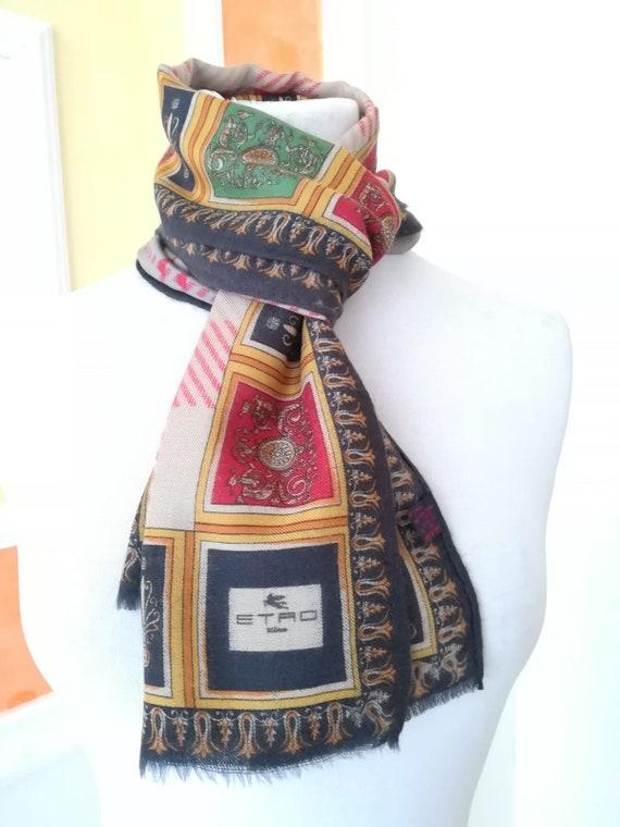 Etro vintage wool and silk scarf