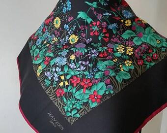 Jean Louis Paris vintage silk scarves flowers and butterflies.