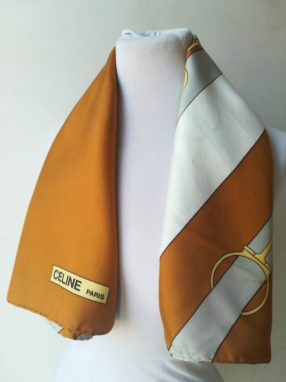 Celine foulard en soie lourde Paris   Etsy a41cf9d1983
