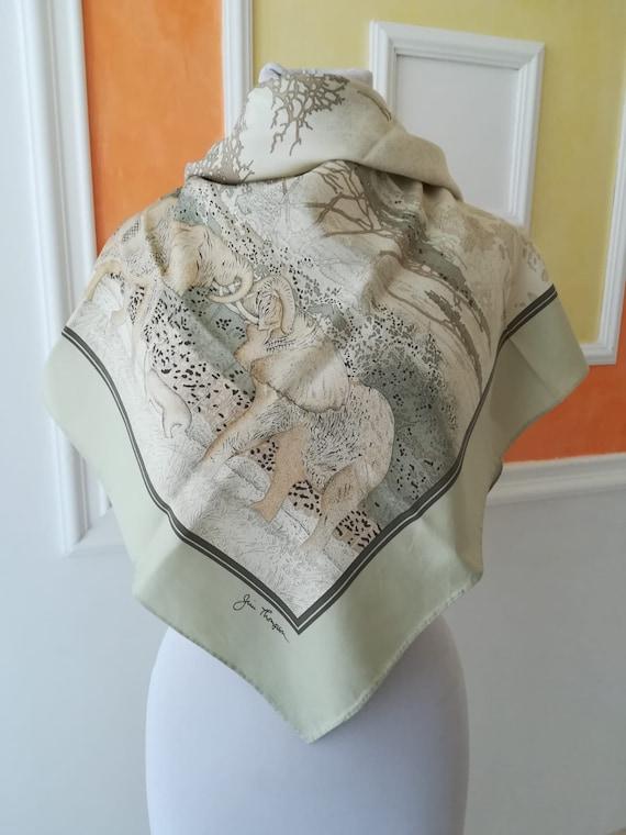Jim Thompson vintage, elephant silk scarf