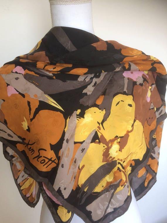 Ken Scott vintage silk foulard.