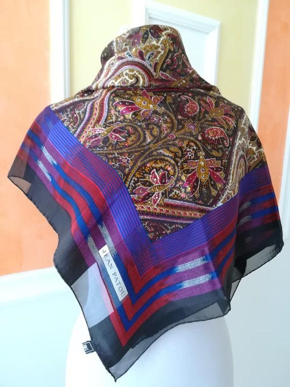 Vintage Jean Patou, vintage scarf.